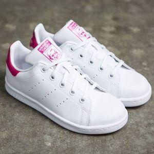 adidas Shoes - ADIDAS PINK & WHITE STAN SMITH Women's ...